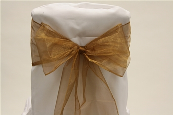 Old Gold Organza Chair Sash