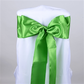 Lime Green Satin Chair Sash