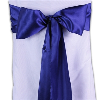 Navy Blue Satin Chair Sash