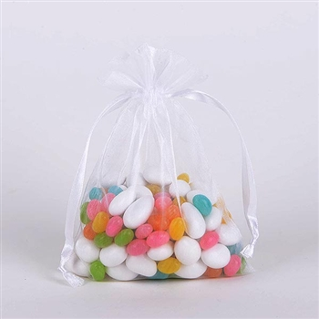 White Organza Favor Bags