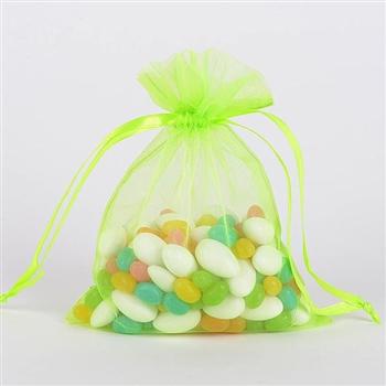 Apple Green Organza Favor Bags