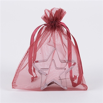 Wine Organza Favor Bags
