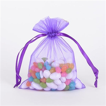 Purple Organza Favor Bags