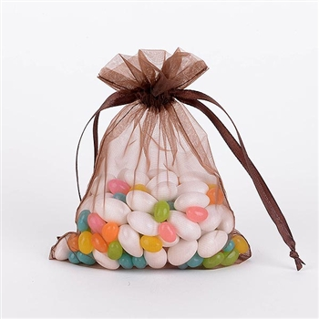 Brown Organza Favor Bags
