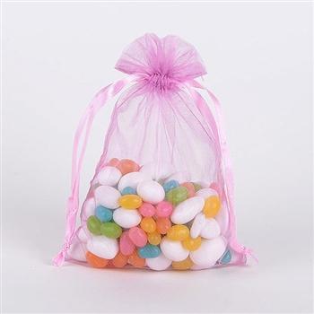Light Pink Organza Favor Bags
