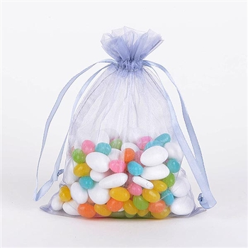 Light Blue Organza Favor Bags