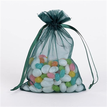 Hunter Green Organza Favor Bags