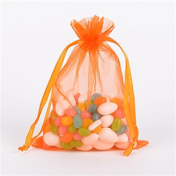 Orange Organza Favor Bags