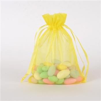 Yellow Organza Favor Bags