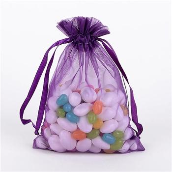 Plum Organza Favor Bags