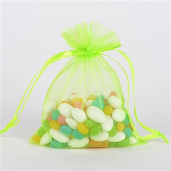 Apple Green Organza Favor Bags