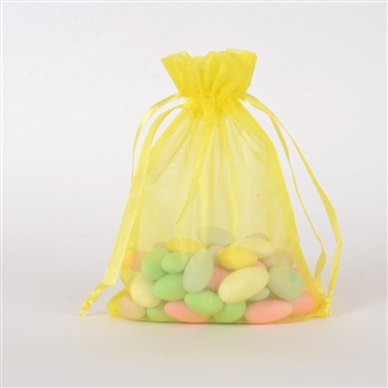 Yellow Organza Favor Bags
