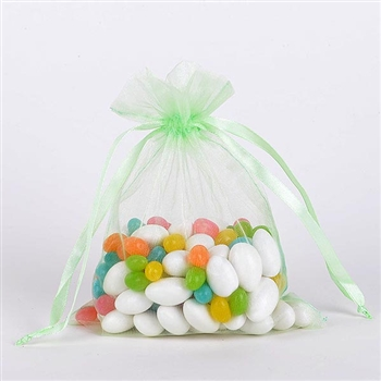 Mint Green Organza Favor Bags
