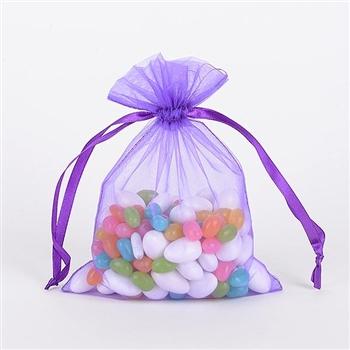 Purple Organza Favor Bags