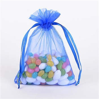 Royal Blue Organza Favor Bags
