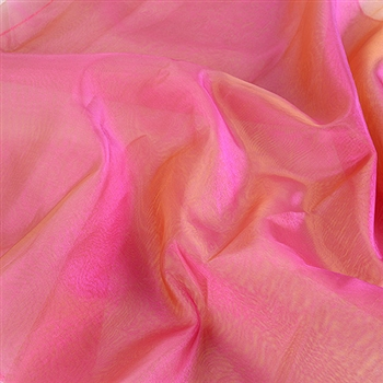 Fuchsia Green Two Tone Organza Overlays 28x3 Yards
