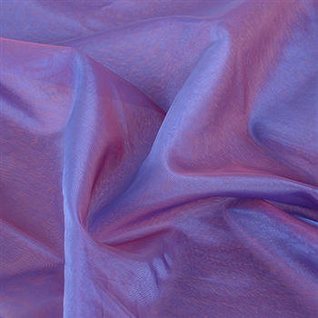 Red Blue Two Tone Organza Overlays 28x3 Yards