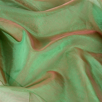 Red Green Two Tone Organza Overlays 28x3 Yards