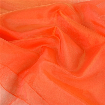 Red Gold Two Tone Organza Overlays 28x3 Yards