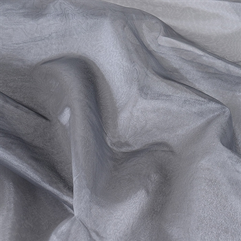 Silver Black Two Tone Organza Overlays 28x3 Yards