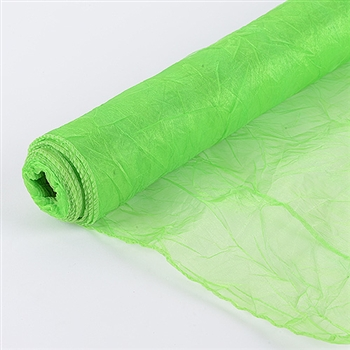Apple Green Premium Crinkle Organza Overlays 24x10 Yards