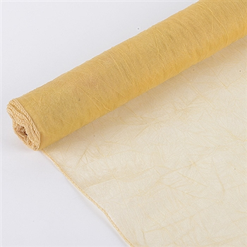Gold Premium Crinkle Organza Overlays 24x10 Yards