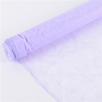 Lavender Premium Crinkle Organza Overlays 24x10 Yards