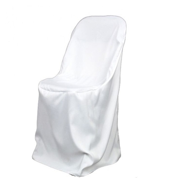 White Poly Folding Chair Covers