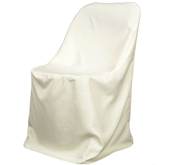 Ivory Poly Folding Chair Covers