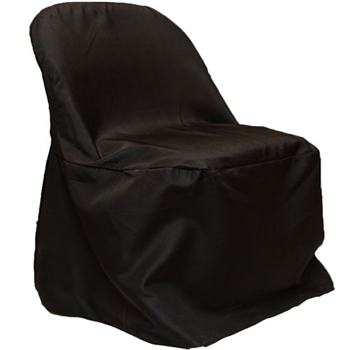 Black Poly Folding Chair Covers