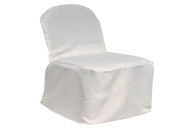 White Poly Banquet Chair Covers
