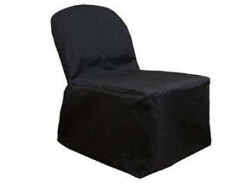 Black Poly Banquet Chair Covers