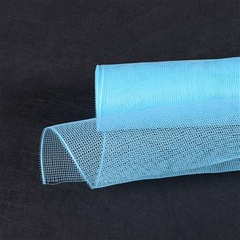 Ligh Blue Floral Mesh Wrap