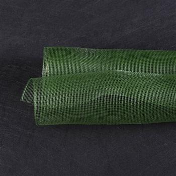 Moss Green Floral Mesh Wrap