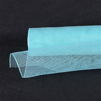 Aqua Blue Floral Mesh Wrap