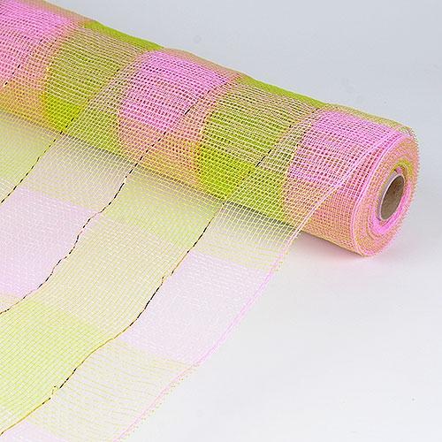 Pink Green Floral Mesh Wrap