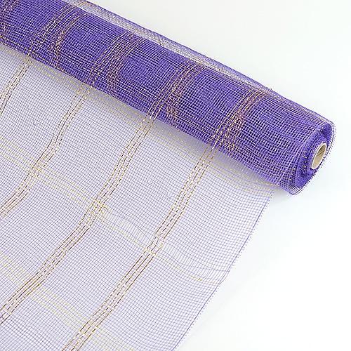 Purple Floral Mesh Wrap