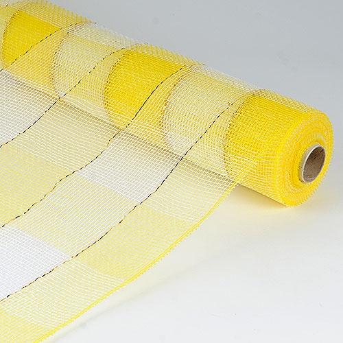 Yellow White Floral Mesh Wrap