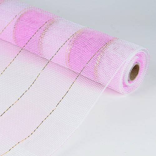 Pink White Floral Mesh Wrap