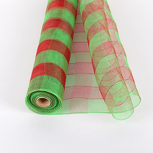 Green Floral Mesh Wrap