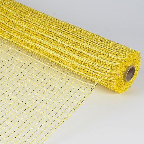 Metallic Oasis Deco Mesh 21 Inch x 10 Yards - Yellow