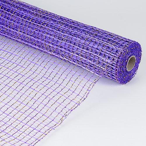 Metallic Oasis Deco Mesh 21 Inch x 10 Yards - Purple