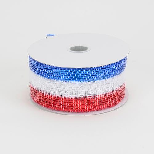 Flag Metallic Deco Mesh Ribbon