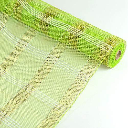 Apple Green Floral Mesh Wrap