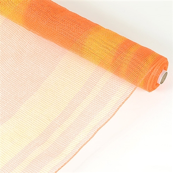 Orange Stripe Deco Mesh