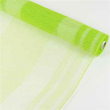 Apple Green Stripe Deco Mesh