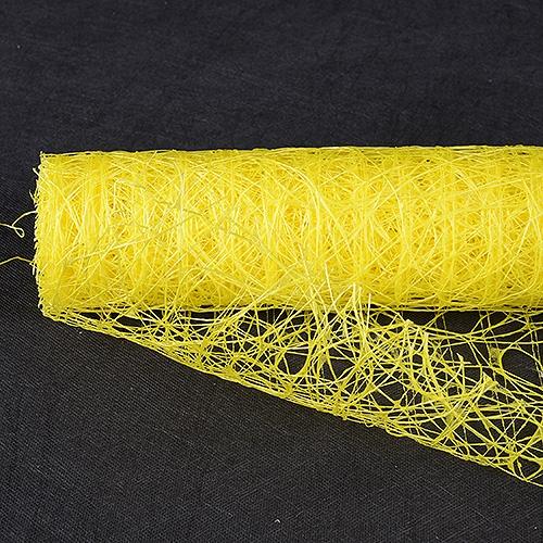 Daffodil Floral Mesh Wraps Sisal - 21 Inch x 6 Yards