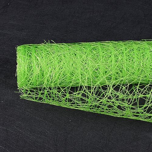 Apple Green Floral Mesh Wraps Sisal - 21 Inch x 6 Yards
