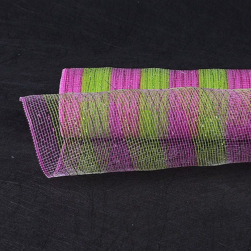 Apple Green with Fuchsia Floral Mesh Wrap