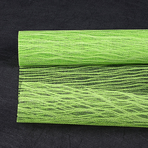 Apple Green Floral Mesh Wraps Twine - 21 Inch x 6 Yards